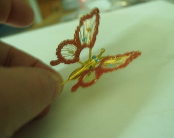 Spring butterfly- moving butterfly straight pin