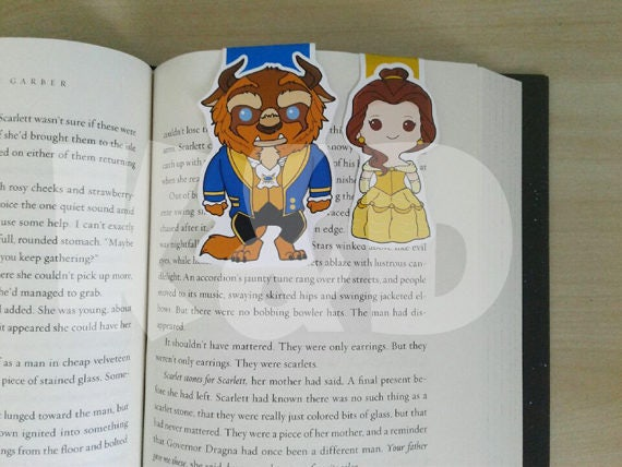 Magnetic Bookmarks- Beauty and the Cursed Prince