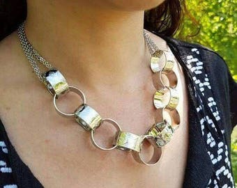 Necklace eleven rings