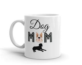 11 oz Coffee Mug: Dog Mom