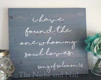 Song of Solomon Wood Sign, Wedding Decor, Wood Sign, Home Decor, Song of Solomon Wedding Sign, Wedding Decor, Gift for Her, Gift for Him