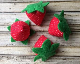 play food strawberries, strawberries , pretend play food fruit, fake food strawberry toy