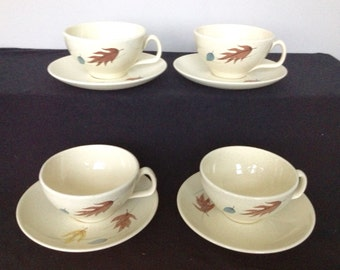 Franciscan Autumn Cup and Saucer - 4 Available!