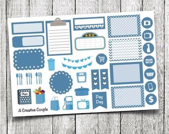 Blue Assortment Planner Stickers