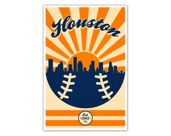 Houston Baseball Vintage Poster