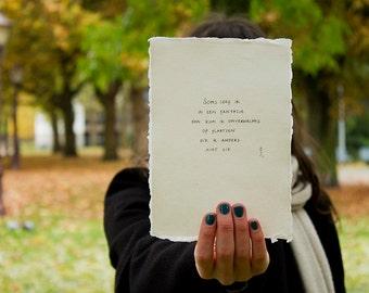 fantasy | poem on cotton paper