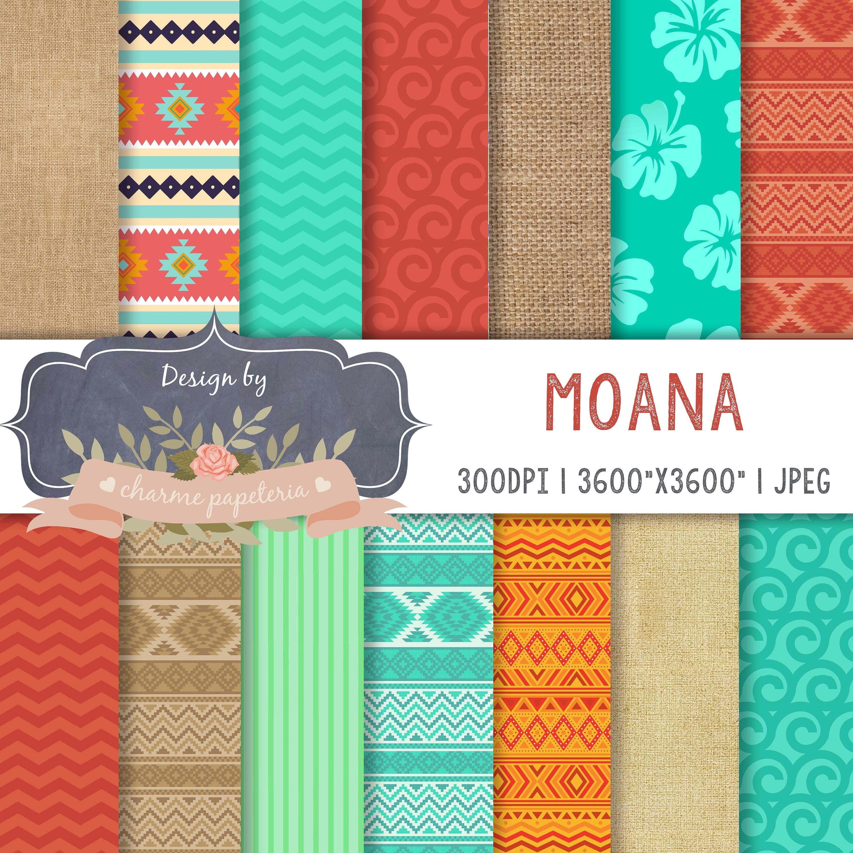 Sale Moana Digital Paper Moana Princess Moana Maui