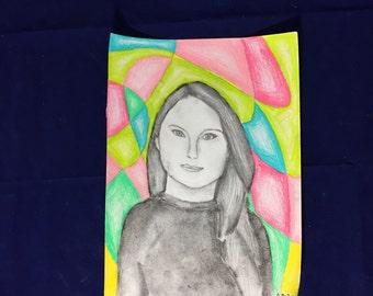 Selena gomez-graphite on sketch paper