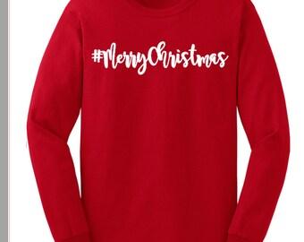 Merry Christmas TShirt Merry Christmas Shirt Merry Christmas Holiday Shirt Merry Christmas Holiday TShirt