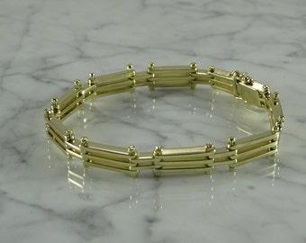 """14K Gold Link Bracelet (8 1/4"""")"""