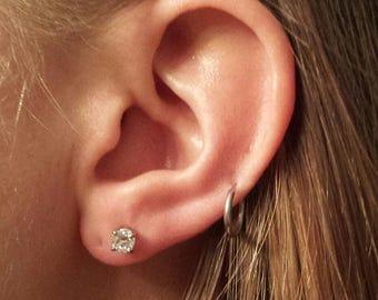 Diamond 14K White Gold Earring Studs