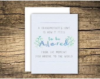 loss of grandma or grandpa (customizable)  - sympathy card, grief card, bereavement card