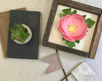 Made to Order Light Pink Framed Peony