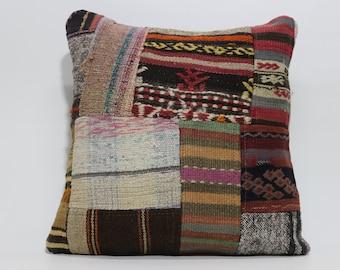 decorative kilim pillow bed pillow 20x20 vintage patchwork kilim pillow ethnic pillow bed pillow throw pillow chic pillow SP5050-1139