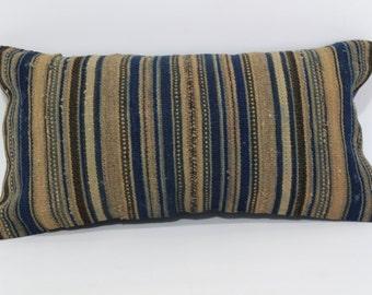10x20 Bohemian Kilim Pillow Throw Pillow Sofa Pillow Ethnic Pillow 10x20 Sofa Pillow Fllor Pillow Home Decor Cushion Cover  SP3050-806