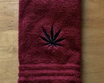 Marjuana Hand towel