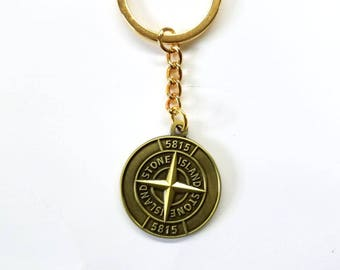 Unique and Rare Stone island keyring metal  ...casuals.