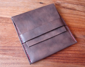 Leather Zentangle wallet / purse - to hold your tiles