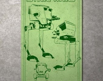 FREE SHIPPING!!! Star Wars At-St Walker Metal Print Illustrated by Jacob Bear