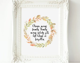 Ohana Quote Ohana means family  Disney Movie Quotes  Prints , Movie Quotes, Lilo and Stich Quote, Disney Lilo Quotes  Disney Stich ,
