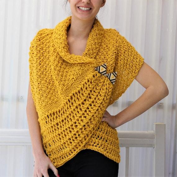 Free Slip Stitch Knitting Patterns : Knitting pattern Patron de tricot PDF Corali Knitted Wrap