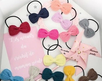4 bow ties. Big bow 6cm on large ties {number of colors to choose a message}