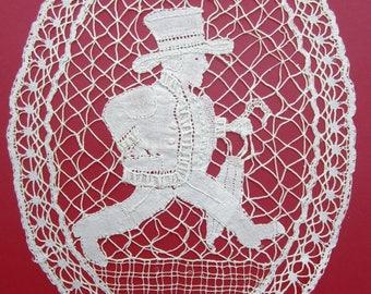 Vintage Lace Free Bobbin Bruges Belgium Brussels Doily