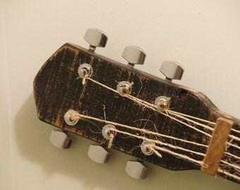 Guitar Wall Art Rustic Pallet Wood Guitar Wall Art Music Art
