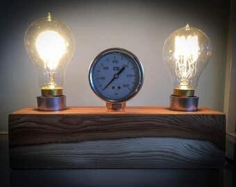 Block and Gauge Desk Lamp