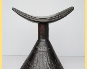ETHIOPIAN HEADREST - Sweetly Carved Headrest, From Ethiopia, Africa