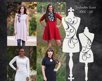 The Drama Dress (Women's Sizes) PDF Sewing Pattern