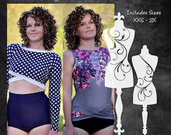 The Daybreak Rash Guard (Women's Sizes) PDF Sewing Pattern