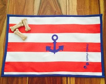 Carpet for Bowl/dog food doiley/dog/dog/anchor/anchor