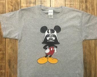 Disney Star Wars Darth Vader Mickey Shirt,Adult Darth Vader Mickey Shirt, Disney Trip Announcement
