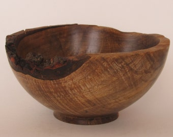 Hand turned, natural edged, maple bowl.