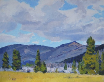 Colorado Rocky Mountain landscape oil painting western art american impressionism southwest art