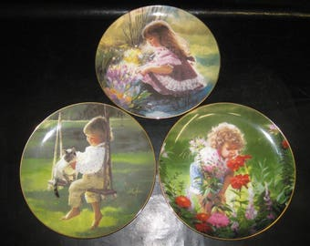 3 x Collector's Plate - Border Fine Arts - Moments of Wonder Limited Edition Plates