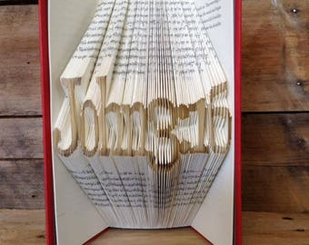 John 3:16 Folded Book Art