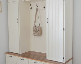 Mudroom Cabinet - Entry Cabinet - Reclaimed Wood
