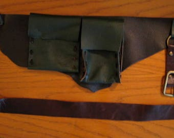 Ranger Leather Utility Belt with Pouches