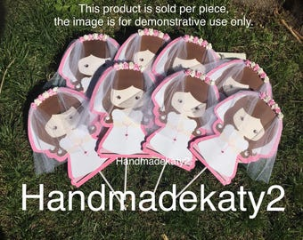 """Little Girl or Boy First Comunion """"Stick Only"""" for centerpiece or cake topper Decoration"""