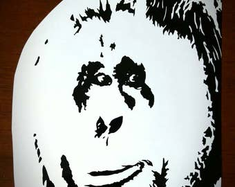 Vinyl Decal - Male Orangutan