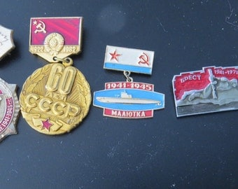 CCCP USSR Vintage Pins 1970's Collection