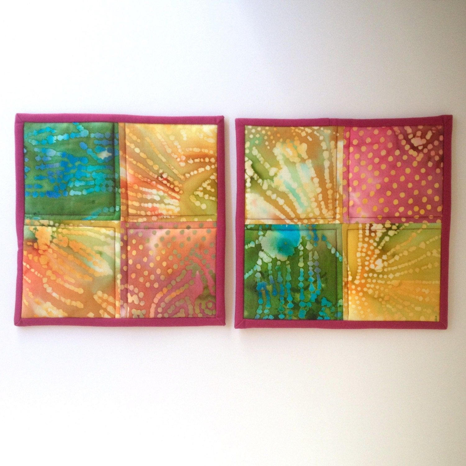 Hot Pad Kitchen Decor Pot Holders Quilted Potholders