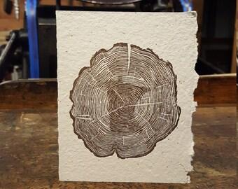 Tree Rings Letterpress Greeting Card