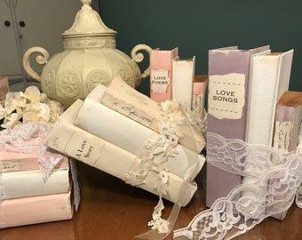 Blush wedding etsy bridal shower blush wedding book themed wedding centerpiece blush colors blush books junglespirit Gallery
