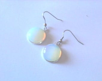 Moonstone earrings and stainless steel, durable jewelry