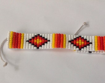 Colorful beaded bracelet / loom bracelet