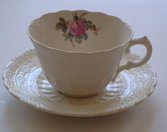 Spode BILLINGSLEY ROSE Tea Cup and Saucer