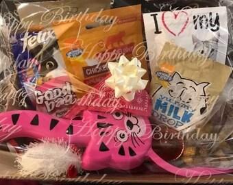 Handmade Cat Treat Hamper - Birthday / Christmas / Occasion